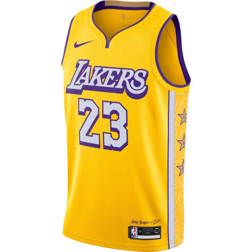 5x nba jerseys cheap Nike LeBron James Los Angeles Lakers City ...